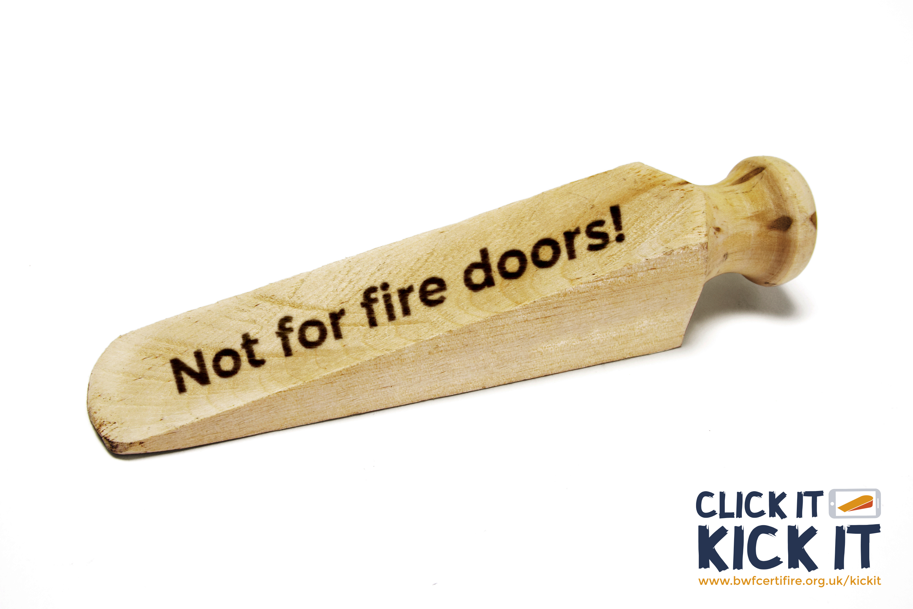 Close the fire door to danger, urges new 'Click It, Kick It' campaign